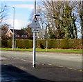 SJ3061 : Warning sign - low bridge ahead, Penyffordd, Flintshire by Jaggery