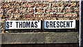 NZ2464 : Sign for St. Thomas' Crescent, NE1 by Mike Quinn