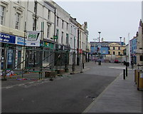 SS9079 : Quiet Dunraven Place in Bridgend town centre by Jaggery