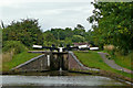 SO8958 : Offerton Locks north-west of Tibberton in Worcestershire by Roger  Kidd