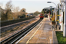 TQ1687 : Northwick Park station, looking west towards Harrow by Christopher Hilton