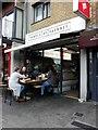 TQ3584 : Alfresco dining, Temple of Hackney, London E9 by Sue Grayson