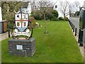 SK4129 : Village sign, Aston-on-Trent by Alan Murray-Rust