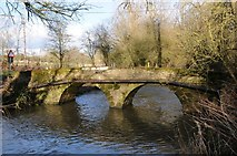 SO9559 : Packhorse bridge beside Shell Ford by Philip Halling