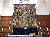 TQ2160 : St Martin of Tours Epsom: reredos by Basher Eyre