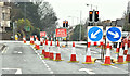 J3873 : Road closure, Knock, Belfast (February 2018) by Albert Bridge