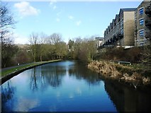 SE1039 : Canalside housing at Bingley by Christine Johnstone