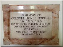 TQ2160 : St Martin of Tours Epsom: memorial (6) by Basher Eyre