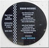 SP3378 : Coventry 2 Tone Trail Plaque - Virgin Records, City Arcade by 360Libre
