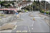 SX4458 : Mini-roundabout, Wolseley Rd by N Chadwick