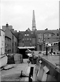 SP0686 : Gas Street Basin - looking towards the tunnel (1968) by Martin Tester
