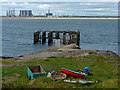NZ5527 : Derelict jetty on the South Gare Breakwater by Mat Fascione