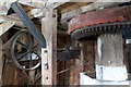 TL4462 : Impington windmill - mainshaft and sack hoist drive by Chris Allen