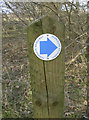 ST6667 : Permissive bridleway marker by Neil Owen