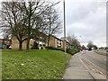 SJ8447 : Council flats alongside the A34 by Jonathan Hutchins