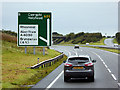 SH3676 : North Wales Expressway at Junction 5 by David Dixon