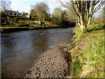 H4772 : Gravel along the Camowen River, Mullaghmore by Kenneth  Allen