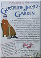 NU1341 : Welcome to the Gertrude Jekyll Garden at Lindisfarne by M J Richardson