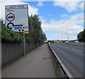 ST3487 : Balfe Road direction sign, Newport by Jaggery