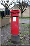 """NZ2364 : """"Anonymous"""" (Victorian) postbox, New Mills, NE4 by Mike Quinn"""