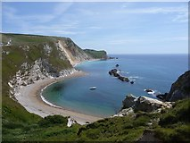 SY8080 : Cove to the East of Durdle Door Arch by Ian Rainey