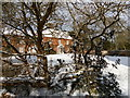 TM4557 : The Red House, Aldeburgh, in snow by Christopher Hilton