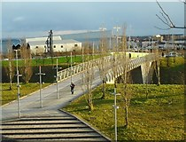 NS5566 : Pedestrian bridge over the Clyde Expressway by Richard Sutcliffe