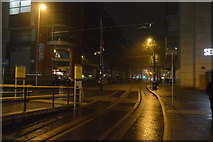 SJ8398 : Exchange Square Tram Stop by N Chadwick