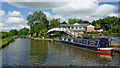 SJ9420 : Moored narrowboat by Stafford Boat Club by Roger  Kidd