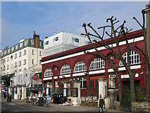 TQ2785 : Belsize Park tube station, Haverstock Hill, NW3 (2) by Mike Quinn