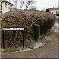 ST3096 : Welsh-only street name sign on a Croesyceiliog corner, Cwmbran by Jaggery