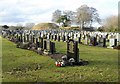 NJ7820 : Eastern sector of Inverurie Bass Cemetery by Stanley Howe