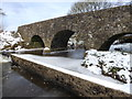 H4772 : Snow and ice at Cranny footbridge by Kenneth  Allen