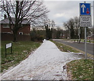 ST3096 : Priority over oncoming vehicles sign, Edlogan Way, Croesyceiliog, Cwmbran by Jaggery