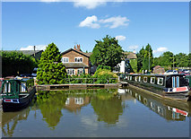 SJ9922 : Canal basin at Great Haywood in Staffordshire by Roger  Kidd