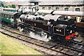 SZ0278 : BR Class 4MT no.80078 with its train at Swanage station by Jonathan Hutchins