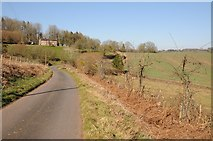 SO6756 : Farm drive and cotttage on Bromyard Downs by Philip Halling
