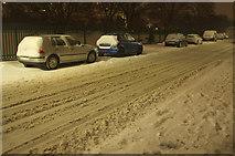 SX9065 : Snow on Cricketfield Road, Torquay by Derek Harper