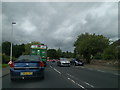 NY5329 : In traffic on the A686 by Rob Purvis