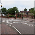 ST1974 : Zebra crossing on a hump, New George Street, Cardiff by Jaggery