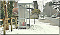 J3873 : Bus shelter and snow, Belfast (March 2018) by Albert Bridge