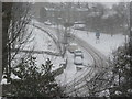 SE1321 : The north end of Delf Hill during a snow shower by Humphrey Bolton