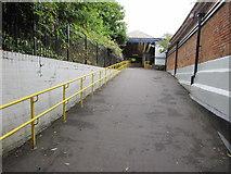 SO9322 : Ramp access to platform 2, Cheltenham Spa Railway Station by Jaggery