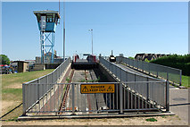 TQ0202 : Pit, retracting bridge, Littlehampton by Robin Webster