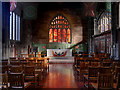 SJ8398 : Manchester Cathedral, Regimental Chapel and Fire Window by David Dixon