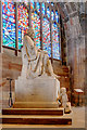 SJ8398 : Humphrey Chetham Statue, Manchester Cathedral by David Dixon