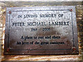 SD3495 : Plaque on memorial bench, Grizedale Forest by Karl and Ali