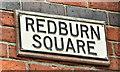 J3979 : Name sign, Redburn Square, Holywood (March 2018) by Albert Bridge