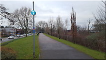 SO8455 : Cycle path in Worcester by Peter Mackenzie