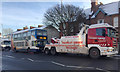 SP2965 : Broken-down bus about to be recovered, Emscote Road, Portobello, Warwick by Robin Stott